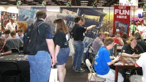 AEG Booth during demo time