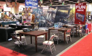 AEG booth before the madness