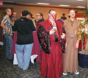 People at the L5R 15th Anniversary Party