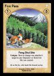 Feng Shui Site - Fox Pass