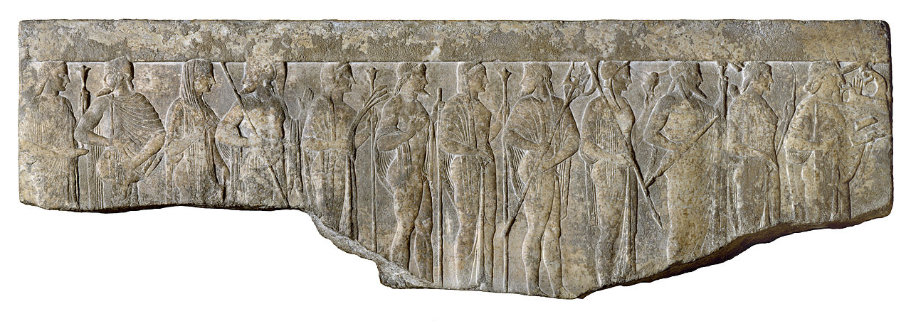 1280px-Greek_-_Procession_of_Twelve_Gods_and_Goddesses_-_Walters_2340