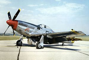 p-%! Mustang similar to the one flown by Jack Diamond, Junior Ace