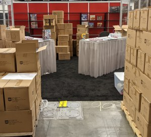 AEG Booth in process